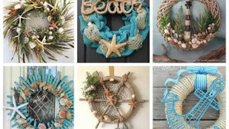 Nautical Wreaths Ideas - Summer Wreaths Inspo - Beach Themed Wreath Ideas
