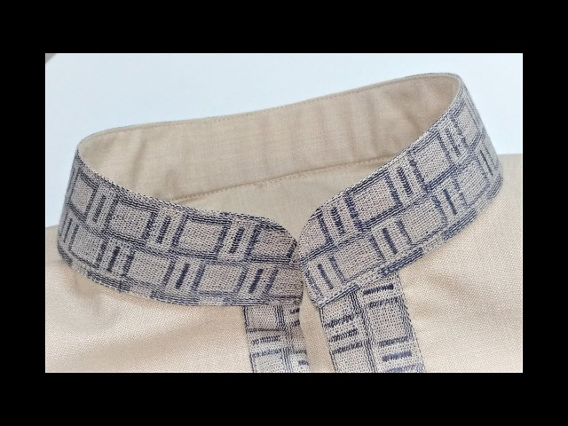 How to cutting and sewing chinese collar (mandarin collar)