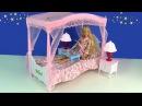 Куклы Барби КОРОЛЕВСКАЯ СПАЛЬНЯ Мебель Кровать Для кукол Игрушки Принцесса Мул ...