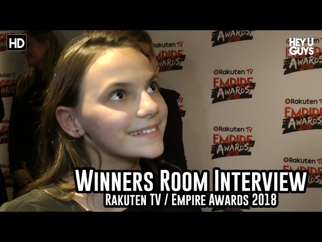 Dafne Keen on stunts, and getting her own X-23 spin off - Empire Awards 2018 Winners Room Interview