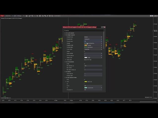 MZpack for NinjaTrader 8 short review Part 1 of 5 mzFootprint indicator