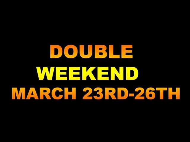 DOUBLE WEEKEND EVENT MARCH 23RD-26TH 2018 IN THE WALKING DEAD NO MAN'S LAND