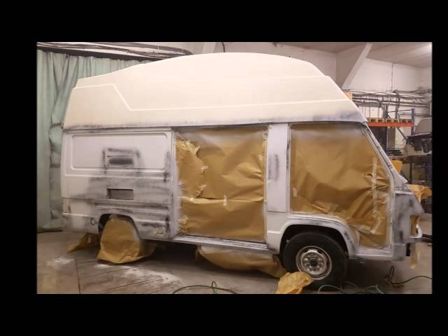 Rekonstrukce obytneho auta MB100D Reimo 1991