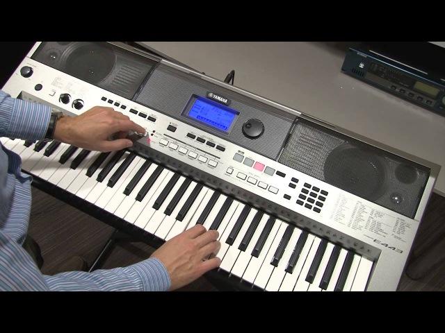 Функции HARMONY и ARPEGGIO на инструменте Yamaha PSR-E443