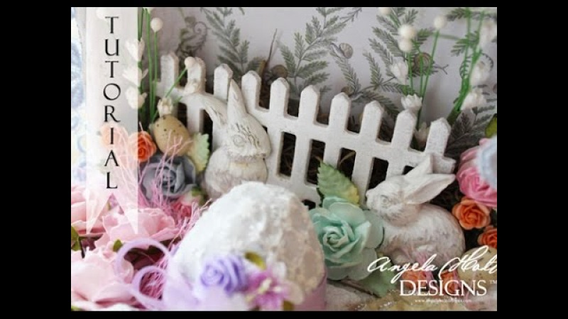 Shabby Chic Altered Easter Egg Carton with Eggs!