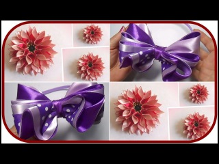 DIY Satin Ribbon Flower Kanzashi Craft Handmade Tutorial Compilation #3 - Zahra Diy Ideas