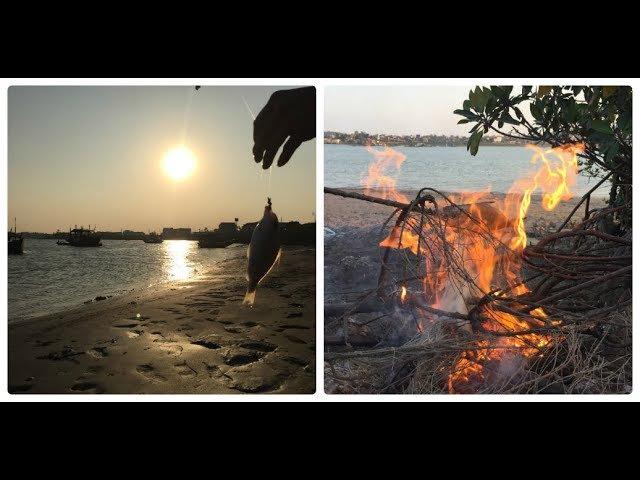 Câu Cá Sông Lớn Buồi Hoàng Hôn Tuyệt Đẹp - Nướng Cá Tại Chỗ Thơm Ngon