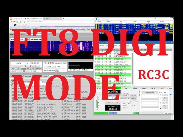 FT8 digi mode 17m - 18.100 MHz SWLing \ WebSDR