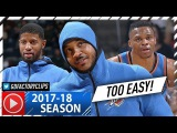 Russell Westbrook, Carmelo Anthony &amp Paul George BIG 3 Highlights vs Bucks (2017.10.31) - TOO EASY!