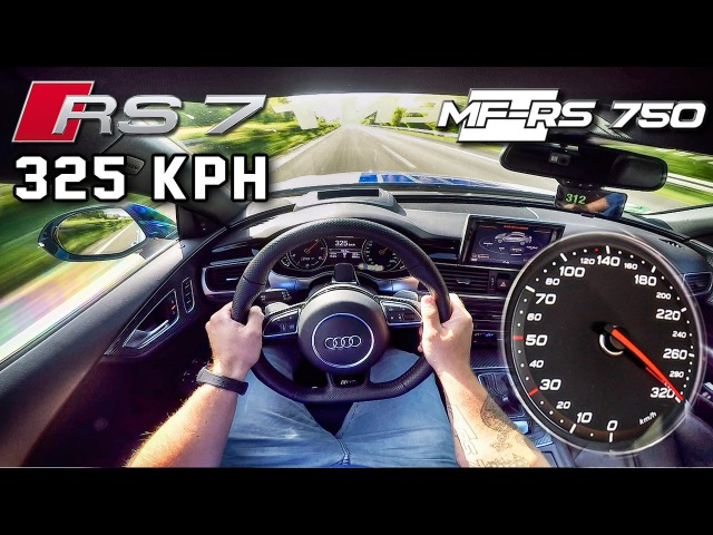 Audi RS7 750 HP AUTOBAHN POV 325 km/h ACCELERATION TOP SPEED by AutoTopNL