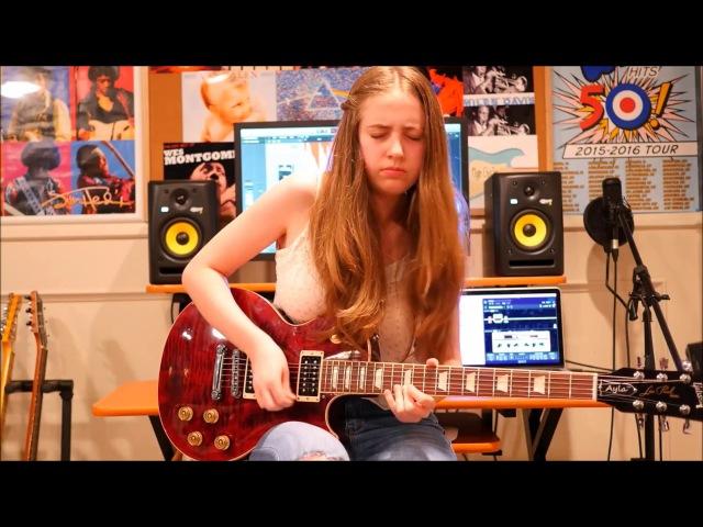 Amazing 16 Year Old Girl Blues Rock Guitarist Playing Mind Blowing Riffs!