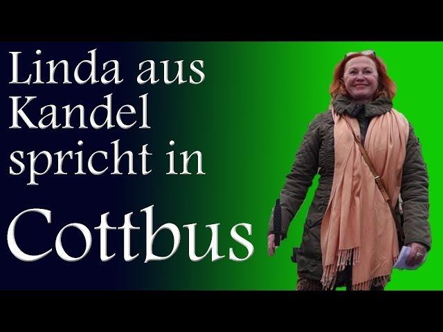 """Linda aus Kandel spricht bei """"Zukunft Heimat"""" in Cottbus am 17. März 2018"""