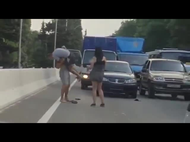 Драка на дороге в Сочи (04.07.2017)