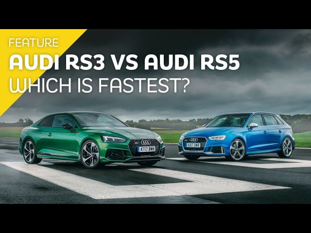 Audi RS5 vs Audi RS3 - Which is fastest Drag race