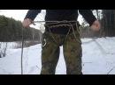 Tozhe Partizany альпинистская обвязка из куска веревки