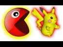 Learn Colors With Pacman For Kids And Picachu  , Funny Video For Kids