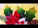 Pintura en tela flor de nochebuena dos con cony