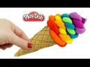 Пластилин Плей До Делаем радужное мороженое из пластилина Play Doh Поделки из плас...