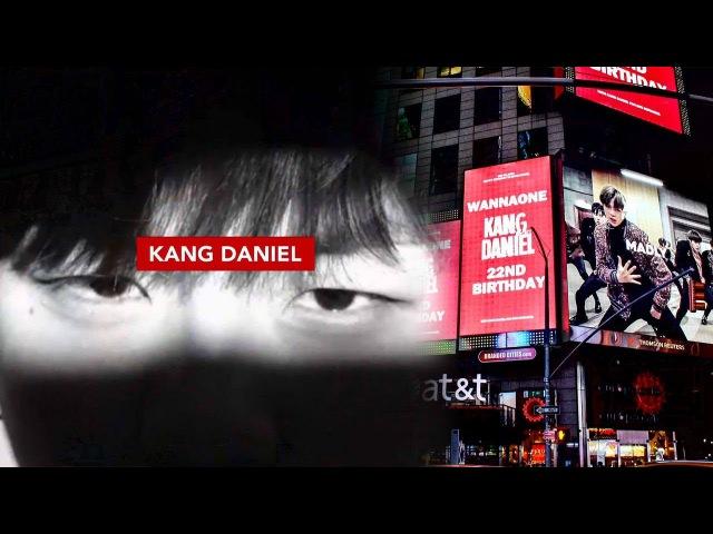 강다니엘, 타임스퀘어 전면에 등장한 생일 광고 '초글로벌 센터' @본격연예 한