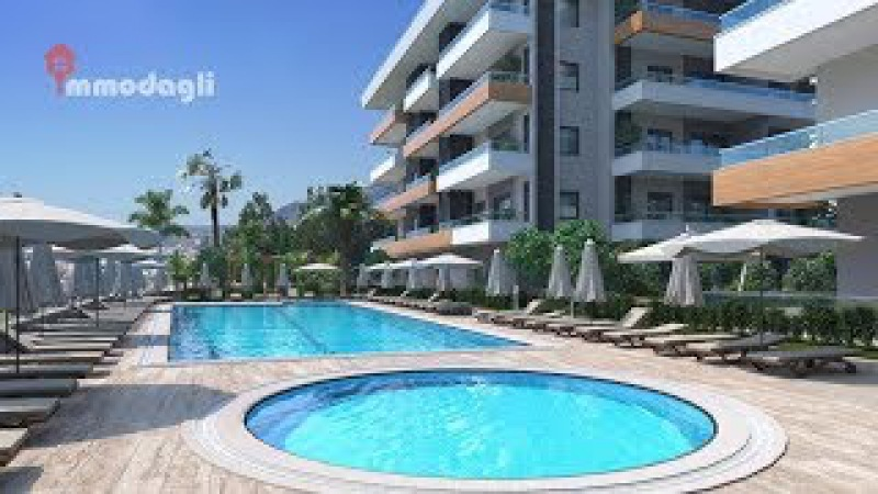 Neubau Wohnungen Alanya Oba Kavi Palas Residenz ab 67 000 euroTürkei