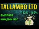TALLAMBO LTD Выплата каждый час Мой вклад 400 руб Поспешите