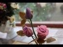 Cách làm hoa hồng từ bean craft hoa đậu cán Rose by Bean Craft