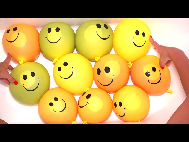 Смешарики Песня Семья пальчиков Лопаем Воздушные шарики с краской Видео для дет...