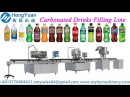 2000BPH carbonated drinks rinsing washing filling capping machine production line