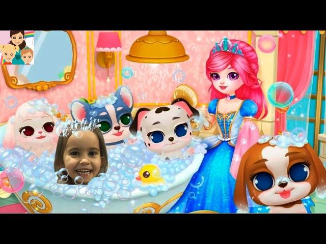 Королевский щенок 1 игра для детей мой виртуальный питомец Princess Palace: Royal Puppy