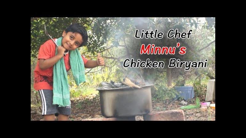 Little Chef Minnu's Special Chicken Dum Biryani Recipe Cooking With Little Hands