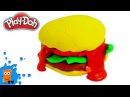 Бургер из пластилина плей до Лепим Бигмак для кукол
