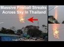Заход Солнца сквозь толстый облачный покров в Тайланде