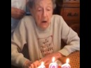102 Year Old Granny Blows Out Her Teeth · coub, коуб