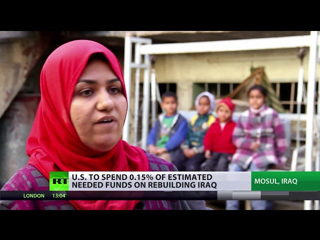 US TO SPEND 0 15% OF ESTIMATED NEEDED FUNDS ON REBUILDING IRAQ