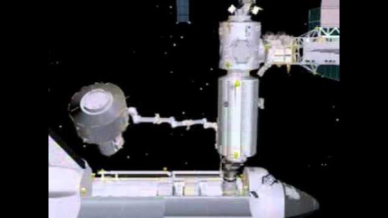 ISS Robotic Arm Lifting Joint Airlock