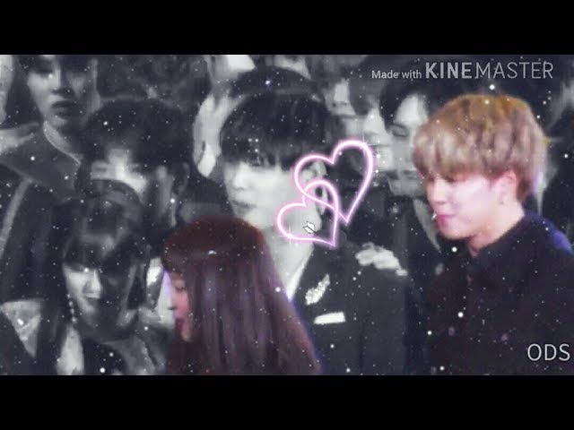 BTS (방탄소년단) Jimin and RED VELVET (레드벨벳) Seulgi HOT moment @ Seoul Music Awards 2018 (SEULMIN)