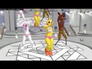 мангл той чика и фокси танцуют и поют песню все тонцуют локтями!_low