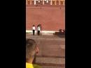 Смена караула у вечного огня . Александровский сад. Москва