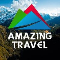 Логотип Amazing Travel - клуб активных путешествий!