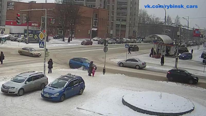ДТП на пересечение улиц Луначарского и Герцена [20.01.2018]