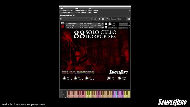 SampleHero - 88 Solo Cello Horror SFX Walkthrough Video