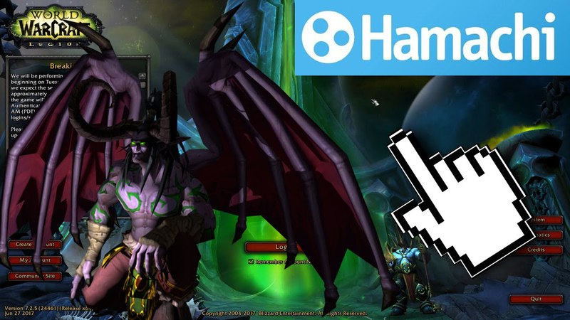 Make your World of Warcraft: Legion Server (TrinityCore) public with Hamachi