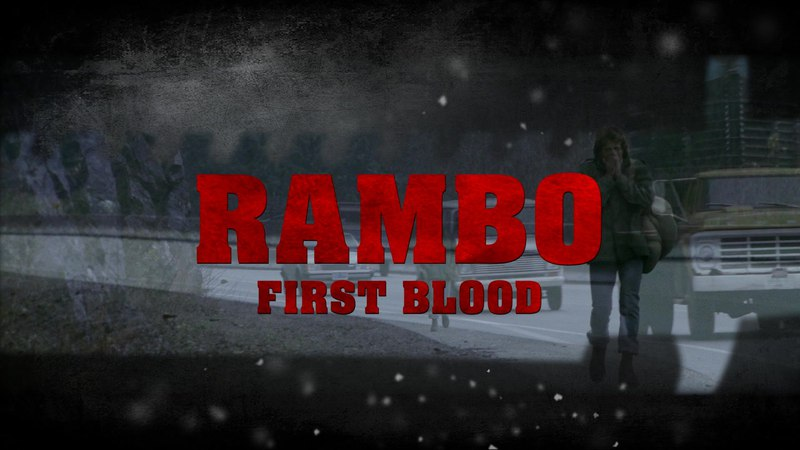 Sylvester Stallone in Blu Ray opening of Rambo First Blood 1982 directed by Ted Kotcheff 1080p