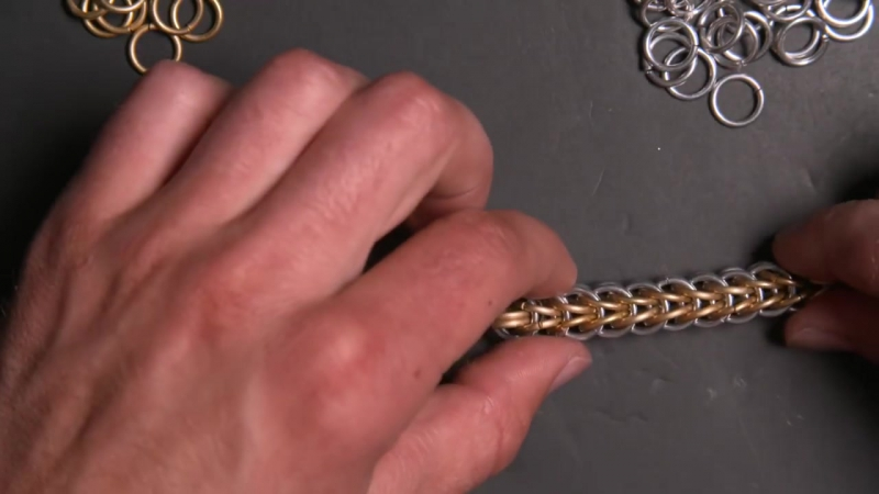 The Best Full Persian Chainmail Tutorial - Starting the chain, speed weaving c