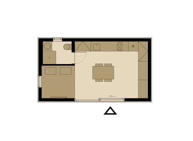Домик-студия 22 м.
