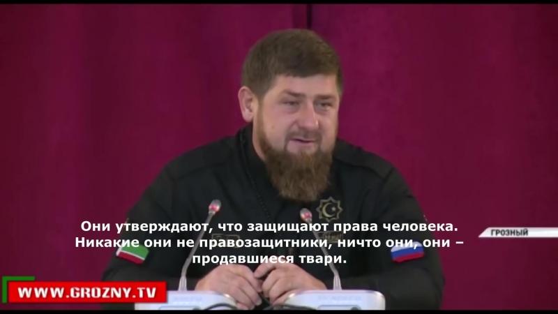 Рамзан Кадыров о правозащитниках (часть 2)