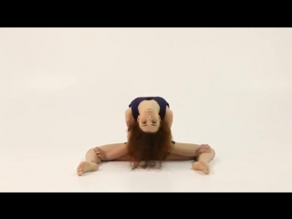 Gymnastic girl with contortion and stretching