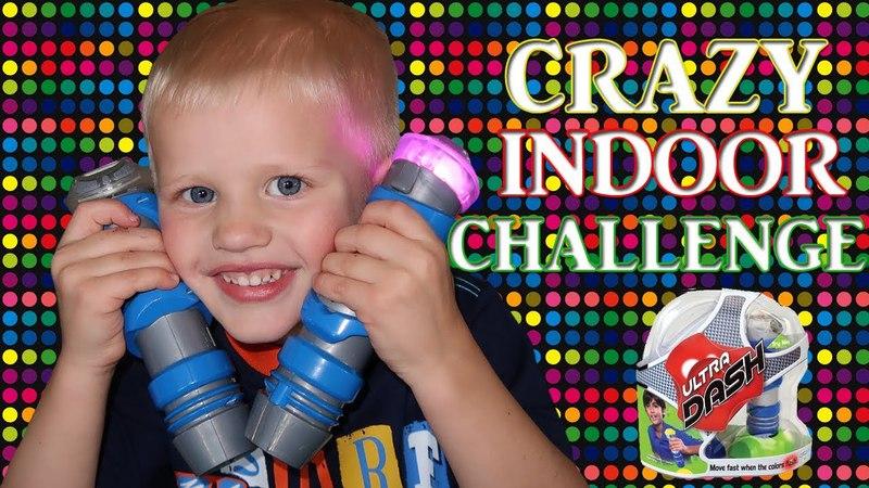 CRAZY FUN Indoor Racing CHALLENGE! Parents VS Kids || Family Game Night