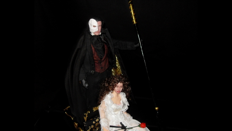 Phantom of the Opera /dolls Erik Christine 1/6 scale/