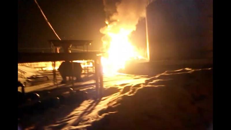 Пожар на нефиебазе. Липецк рудник